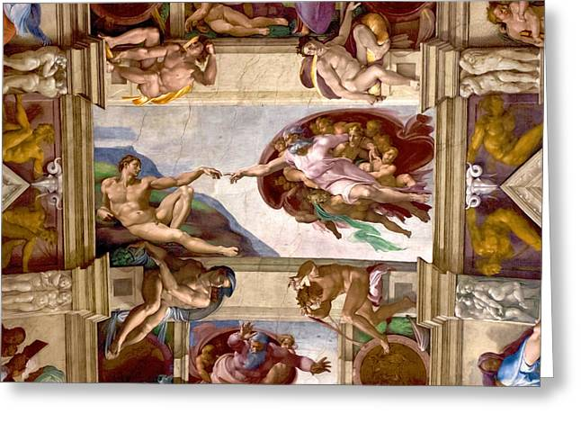 The Vatican Greeting Cards - The Creation of Adam Greeting Card by Walt  Baker
