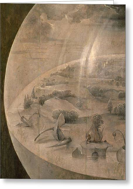 Earthly Greeting Cards - The Creation of the World Greeting Card by Hieronymus Bosch