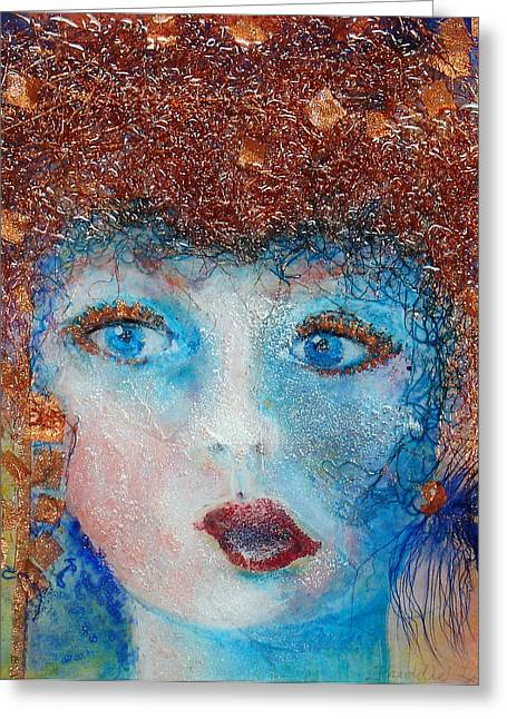 Lush Mixed Media Greeting Cards - The Creative One Greeting Card by Freddie Lieberman