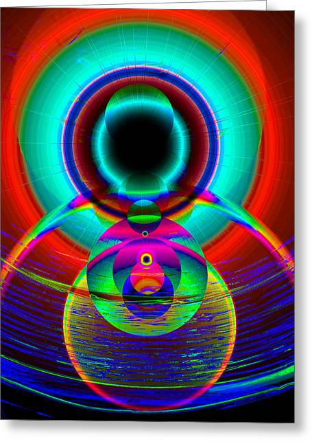 Religious work Digital Greeting Cards - The Creator and the seeing of worlds Greeting Card by David Lee Thompson
