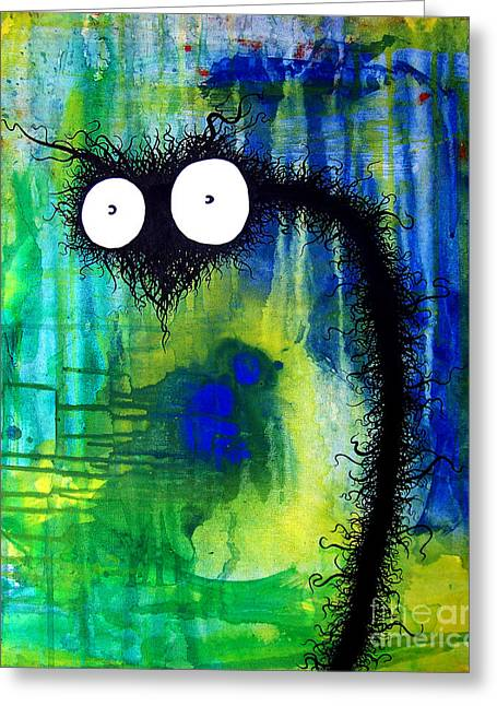 Drain Paintings Greeting Cards - The creatures from the drain 20 Greeting Card by Brandon Lynch