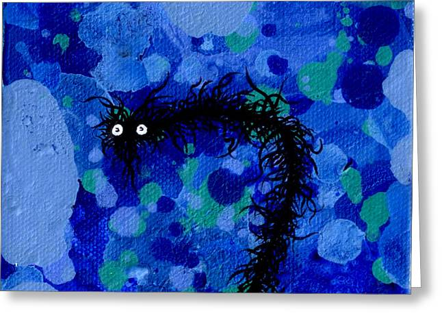 Drain Paintings Greeting Cards - The Creatures From The Drain painting 44 Greeting Card by Brandon Lynch