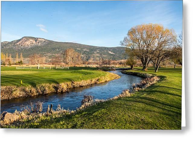 Randy Moss Photographs Greeting Cards - The Creek Runs Through Greeting Card by Randy Giesbrecht