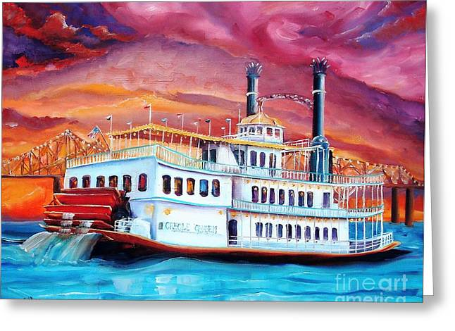 Paddle Wheel Greeting Cards - The Creole Queen Greeting Card by Diane Millsap