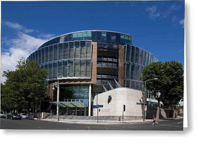 21st Greeting Cards - The Criminal Courts Of Justice Greeting Card by Panoramic Images