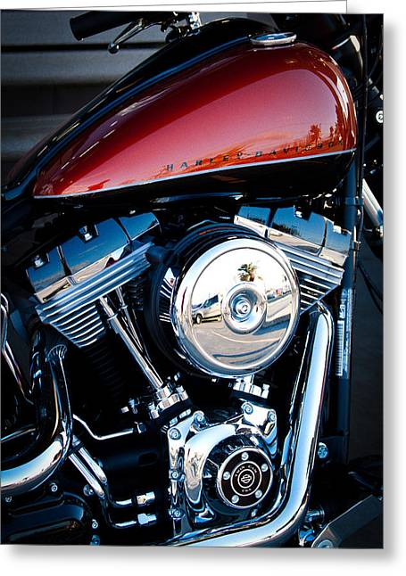 Red Hog Greeting Cards - The Crimson Hog II Greeting Card by David Patterson