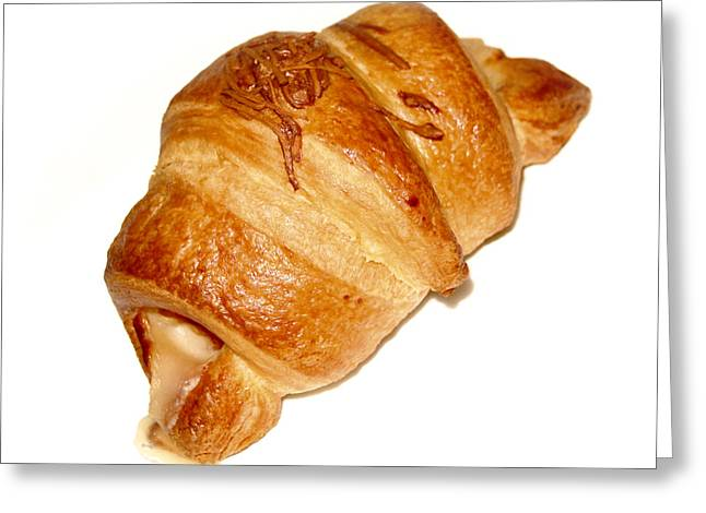 Croissant Greeting Cards - The croissant Greeting Card by Gina Dsgn