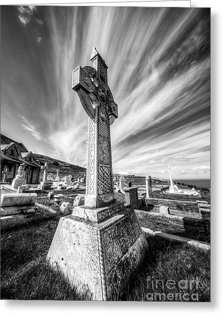 Grave Yard Greeting Cards - The Cross Greeting Card by Adrian Evans