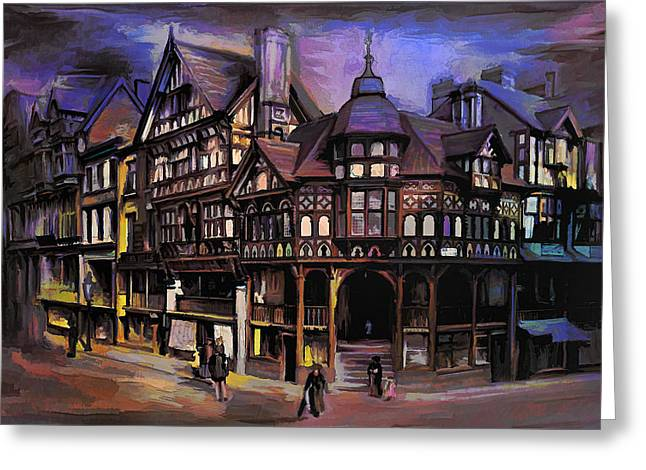 The Cross And Rrows Chester England Greeting Card by Andrzej Szczerski