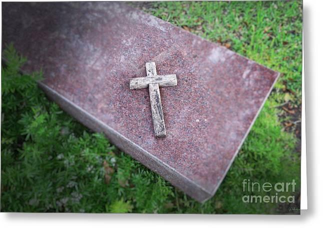 Jesus Christ Icon Digital Greeting Cards - the Cross Greeting Card by Ella Kaye Dickey