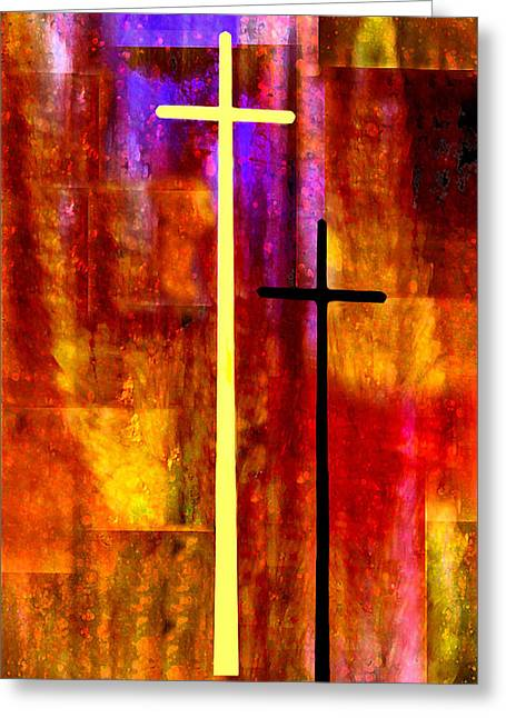 Lent Greeting Cards - The Cross Greeting Card by Paul St George
