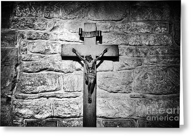 Liberation Greeting Cards - The Cross Greeting Card by Tim Gainey