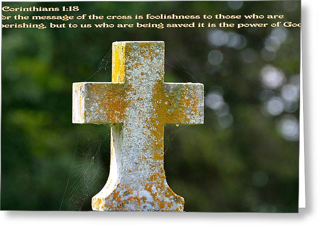 Christ Pictures Greeting Cards - The Cross Greeting Card by Todd Hostetter
