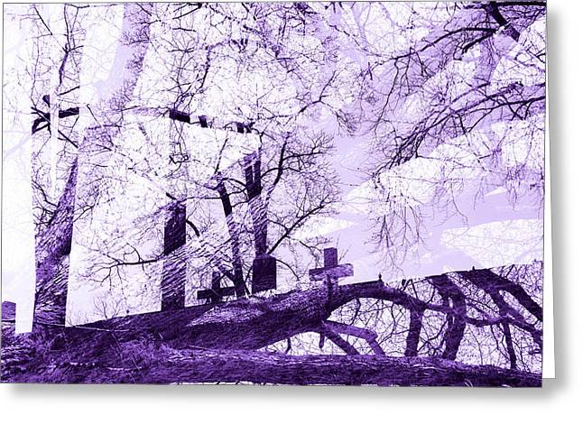 Driving Life Greeting Cards - The cross Greeting Card by Toppart Sweden
