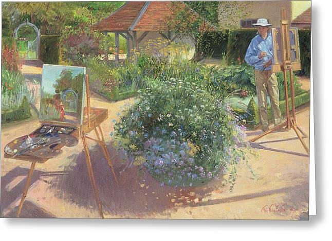 Painter Photographs Greeting Cards - The Crossing, 1997 Oil On Canvas Greeting Card by Timothy Easton
