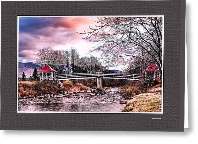 Decour Digital Art Greeting Cards - The Crossing II Brenton Woods NH Greeting Card by Tom Prendergast