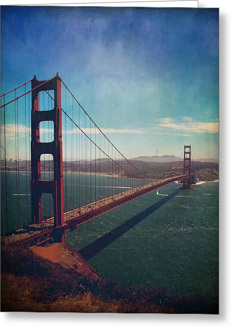San Francisco Bay Bridge Greeting Cards - The Crossing Greeting Card by Laurie Search