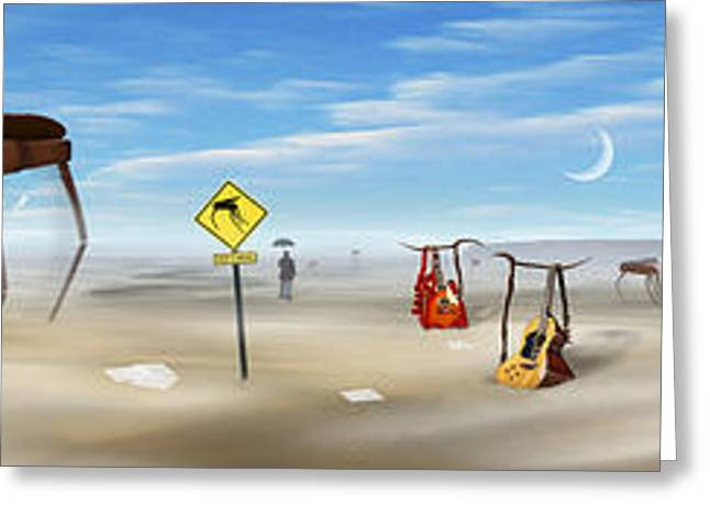 Imaginative Art Greeting Cards - The Crossing Panorama Greeting Card by Mike McGlothlen