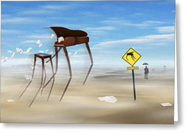 Les Digital Art Greeting Cards - The Crossing Panorama Greeting Card by Mike McGlothlen