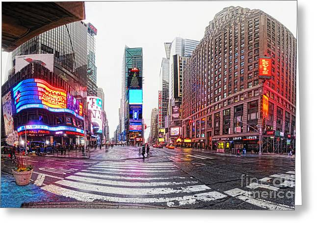 Celebration Art Print Digital Art Greeting Cards - The Crossroads of the World Greeting Card by Nishanth Gopinathan
