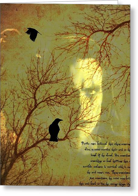 Crow Mixed Media Greeting Cards - The Crow Greeting Card by Dan Sproul