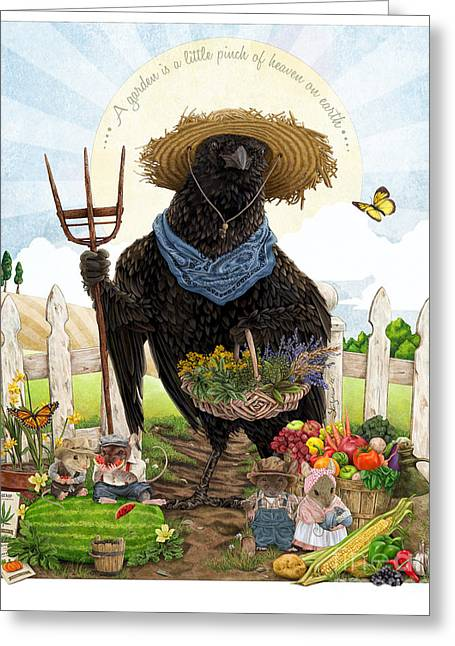 Children Story Book Digital Greeting Cards - The Crow of Shepherd Hills Greeting Card by Steel Goddess