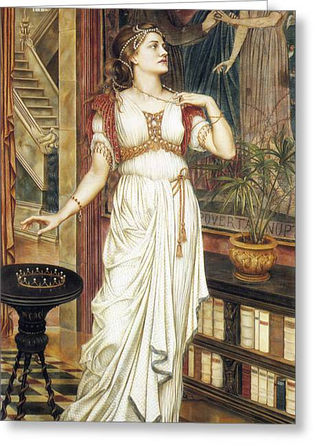 Evelyn De Greeting Cards - The Crown of Glory Greeting Card by Evelyn de Morgan