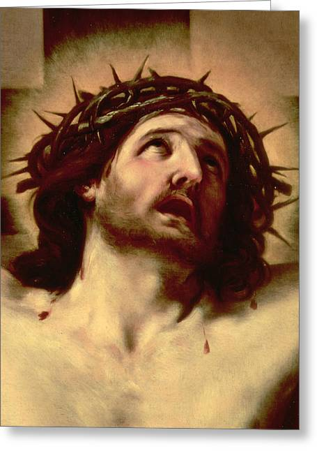 Lord Paintings Greeting Cards - The Crown of Thorns Greeting Card by Guido Reni