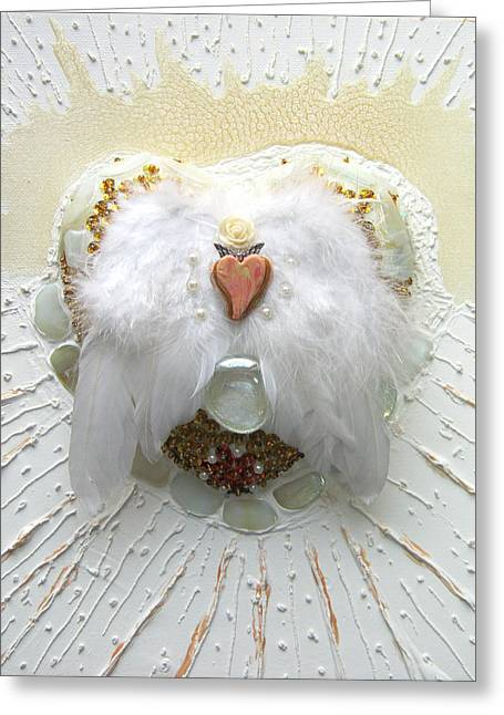 Spiritual Reliefs Greeting Cards - The crowning of the pure heart Greeting Card by Heidi Sieber