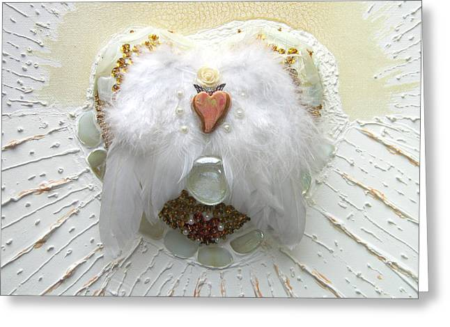 Shine Reliefs Greeting Cards - The crowning of the pure heart Greeting Card by Heidi Sieber