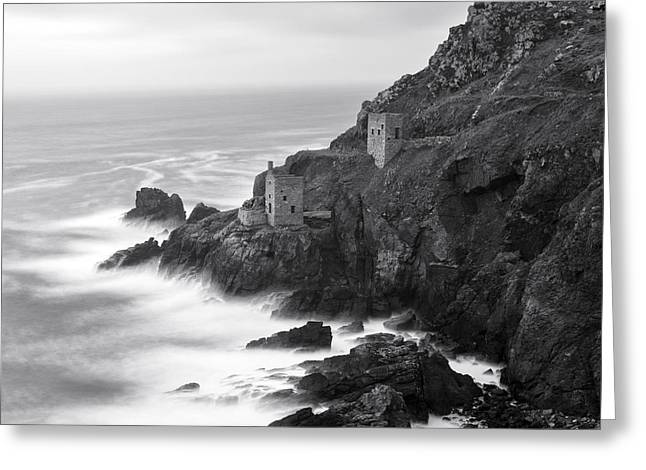 Engine House Greeting Cards - The Crowns Iconic Tin Mines at Botallack in Cornwall Greeting Card by Helen Hotson