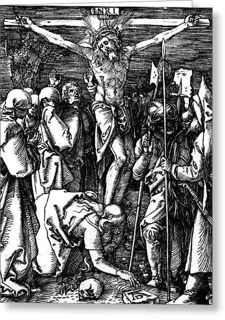 Jesus Thorns Greeting Cards - The Crucifixion Greeting Card by Albrecht Durer