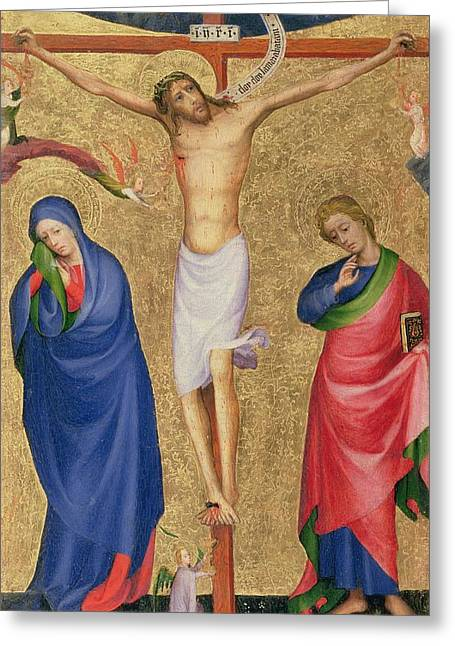 God The Father Greeting Cards - The Crucifixion Greeting Card by Dutch School