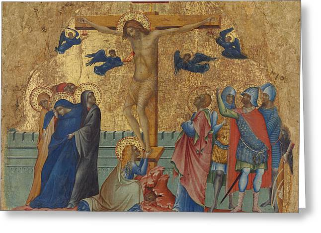 Faint Greeting Cards - The Crucifixion Greeting Card by Paolo Veneziano