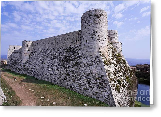 Chevalier Greeting Cards - The crusader castle Krak Des Chevaliers Syria Greeting Card by Robert Preston