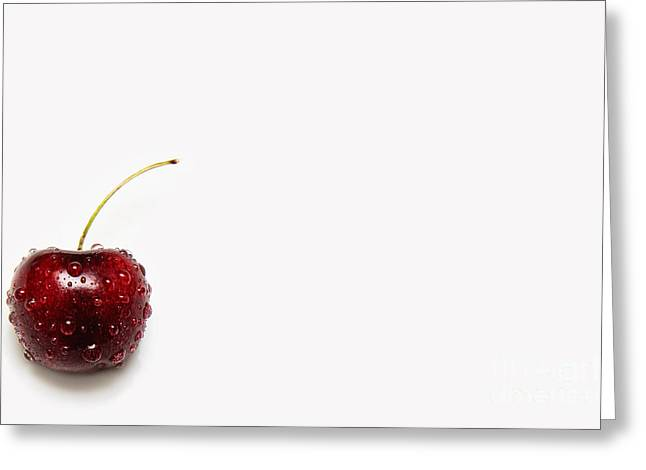 Tears Greeting Cards - The Crying Cherry Greeting Card by Andee Design
