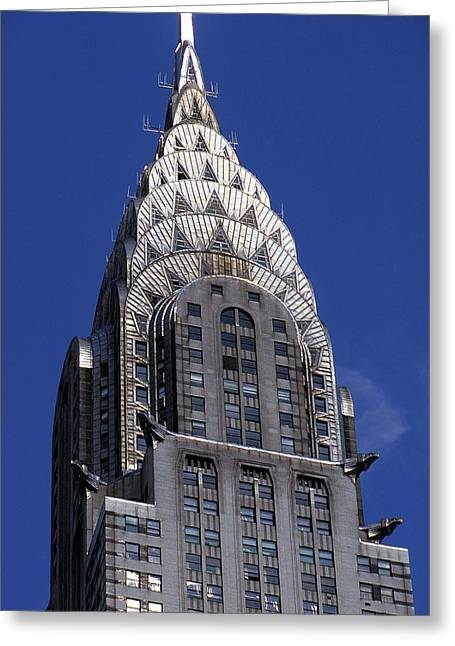 The Big Apple Greeting Cards - The Crysler Building Greeting Card by Jon Neidert