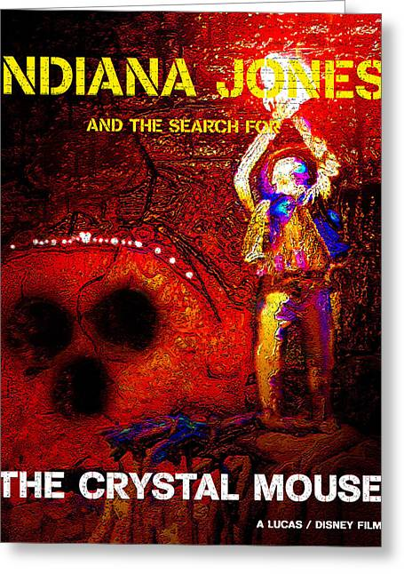 Indiana Art Digital Art Greeting Cards - The Crystal Mouse Greeting Card by David Lee Thompson