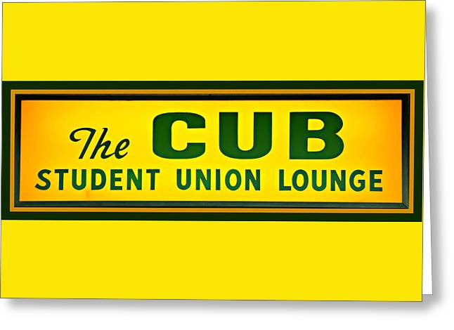 Student Union Greeting Cards - The Cub - Baylor Greeting Card by Stephen Stookey
