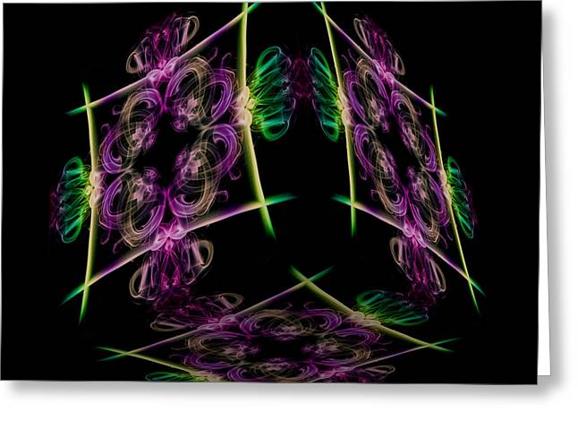 The Cube 7 Greeting Card by Steve Purnell