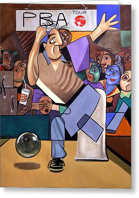 Bowler Greeting Cards - The Cubist Bowler Greeting Card by Anthony Falbo