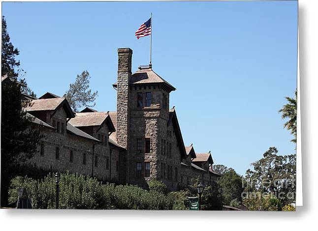 St Helena Greeting Cards - The Culinary Institute of America Greystone St Helena Napa California 5D29498 Greeting Card by Wingsdomain Art and Photography