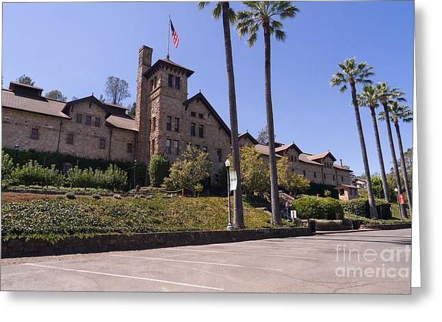 St Helena Greeting Cards - The Culinary Institute of America Greystone St Helena Napa California DSC1689 Greeting Card by Wingsdomain Art and Photography