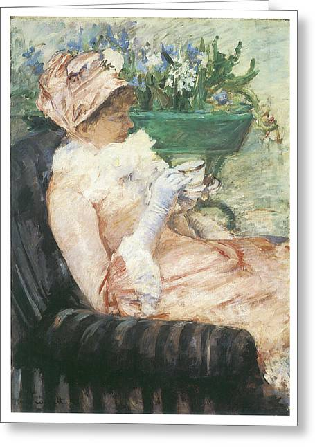 Cassatt Greeting Cards - The Cup of Tea Greeting Card by Mary Cassatt