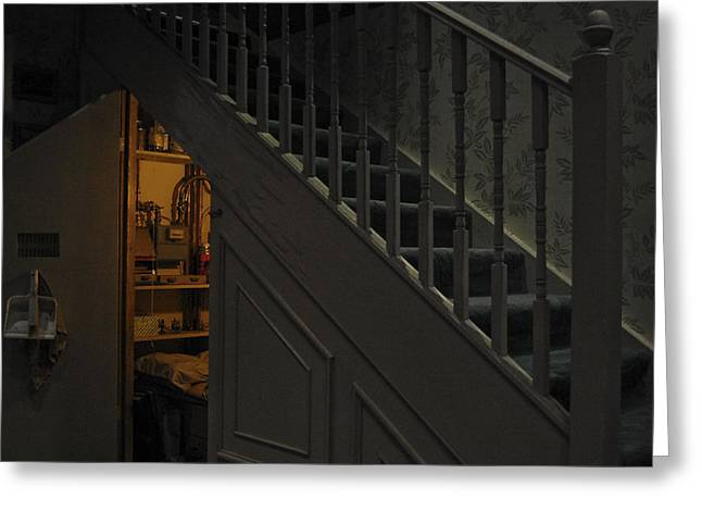 Cupboard Greeting Cards - The Cupboard under the stairs Greeting Card by Gina Dsgn