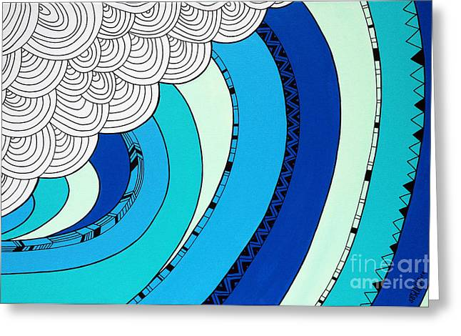 Sun Digital Art Greeting Cards - The Curl Greeting Card by Susan Claire