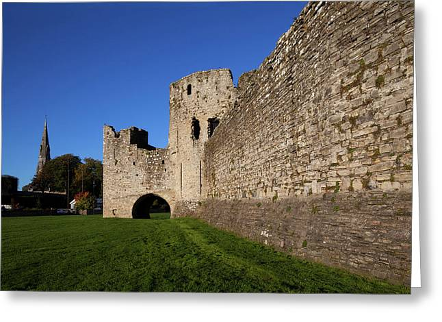 The Curtain Walls Of Trim Castle Greeting Card by Panoramic Images