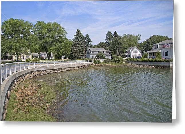 Kennebunkport Greeting Cards - The Curve Greeting Card by Betsy C  Knapp
