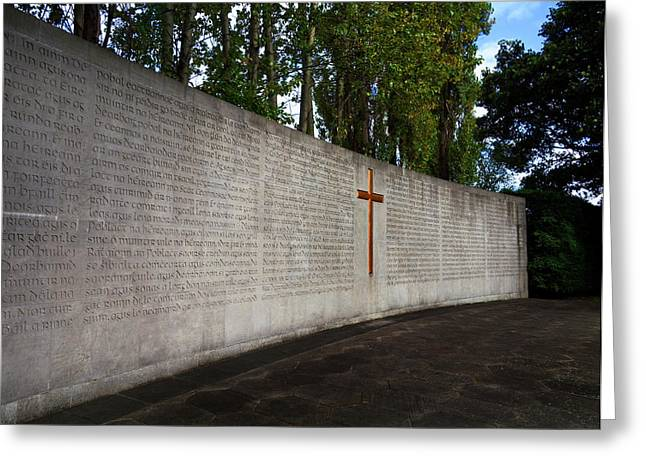 The Curved Wall Bearing The 1916 Greeting Card by Panoramic Images
