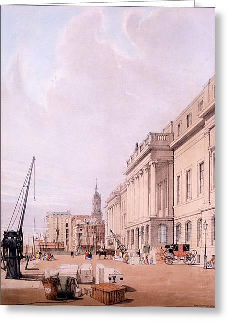 Martyr Drawings Greeting Cards - The Custom House, From London Greeting Card by Thomas Shotter Boys